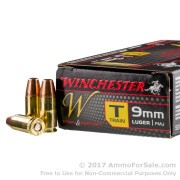 50 Rounds of 147gr TC-MC 9mm Ammo by Winchester