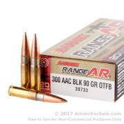 20 Rounds of 90gr OTM .300 AAC Blackout Ammo by Barnes Range AR