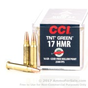 50 Rounds of 16gr HP .17HMR Ammo by CCI