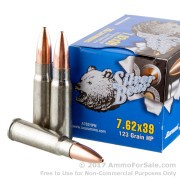 20 Rounds of 123gr HP 7.62x39mm Ammo by Silver Bear