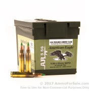 120 Rounds of 62gr FMJ 5.56x45 Ammo by Federal