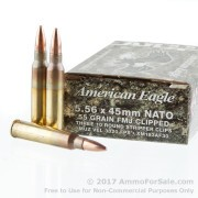 600 Rounds of 55gr FMJBT 5.56x45 Ammo by Federal American Eagle