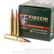 25 Rounds of 125gr SST .300 AAC Blackout Ammo by Fiocchi Extrema