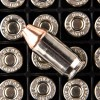 Close up of the 90gr on the 25 Rounds of 90gr JHP .380 ACP Ammo by Hornady