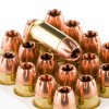 Close up of the 165gr on the 20 Rounds of 165gr SCHP .45 ACP +P Ammo by Magtech First Defense