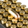 Close up of the 95gr on the 1000 Rounds of 95gr FMJ .380 ACP Ammo by Aguila