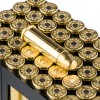 Close up of the 158gr on the 50 Rounds of 158gr TMJ .38 Spl Ammo by Sellier & Bellot
