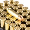 Close up of the 130gr on the 1000 Rounds of 130gr FMC .38 Spl Ammo by Magtech