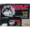View of Wolf .45 ACP ammo rounds