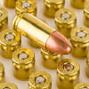 Close up of the 115gr on the 50 Rounds of 115gr FMJ 9mm Ammo by Blazer
