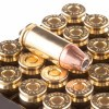 Close up of the 115gr on the 25 Rounds of 115gr JHP 9mm Ammo by Hornady