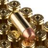 View of Blazer Brass 10mm ammo rounds