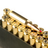 View of Hornady 6.5mm Creedmoor ammo rounds