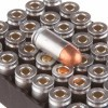 Close up of the 94gr on the 1000 Rounds of 94gr FMJ .380 ACP Ammo by Silver Bear