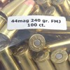 View of M.B.I. .44 Mag ammo rounds