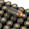 Close up of the 94gr on the 1000 Rounds of 94gr FMJ .380 ACP Ammo by Wolf