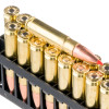 View of Hornady .300 AAC Blackout ammo rounds