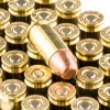 Close up of the 147gr on the 50 Rounds of 147gr MC 9mm Ammo by Remington