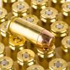 View of Blazer Brass .40 S&W ammo rounds