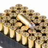 Close up of the 240gr on the 500 Rounds of 240gr SP .44 Mag Ammo by Remington HTP