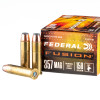 Close up of the 158gr on the 20 Rounds of 158gr Fusion .357 Mag Ammo by Federal