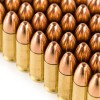 Close up of the 115gr on the 1000 Rounds of 115gr FMJ 9mm Ammo by Israeli Military Industries