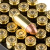 Close up of the 124gr on the 500  Rounds of 124gr MC 9mm Ammo by Remington