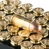 Close up of the 147gr on the 1000 Rounds of 147gr FMJ 9mm Ammo by Fiocchi
