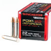 Close up of the 40gr on the 50 Rounds of 40gr JHP .22 WMR Ammo by Winchester