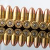 Close up of the 230gr on the 1000 Rounds of 230gr FMJ .45 ACP Ammo by M.B.I.