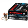 Close up of the 165gr on the 50 Rounds of 165gr Bonded JHP .40 S&W Ammo by Winchester - Law Enforcement Trade-In