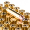 View of Blazer Brass .357 Mag ammo rounds