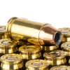 Close up of the 90gr on the 20 Rounds of 90gr JHP .380 ACP Ammo by Sierra