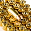 Close up of the 115gr on the 50 Rounds of 115gr JHP .38 Super Ammo by Federal American Eagle