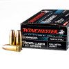 Close up of the 147gr on the 50 Rounds of 147gr FMJ 9mm Ammo by Winchester