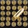Close up of the 115gr on the 50 Rounds of 115gr FMJ 9mm Ammo by Aguila