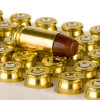 Close up of the 70gr on the 50 Rounds of 70gr Lead-Free FMJ .380 ACP Ammo by Federal
