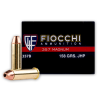 Close up of the 158gr on the 50 Rounds of 158gr JHP .357 Mag Ammo by Fiocchi