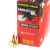 View of Federal .45 ACP ammo rounds