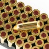 Close up of the 115gr on the 50 Rounds of 115gr TMJ 9mm Ammo by Sellier & Bellot