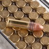 Close up of the 40gr on the 100 Rounds of 40gr LRN .22 LR Ammo by Federal