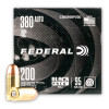 Image of 200 Rounds of 95gr FMJ .380 ACP Ammo by Federal Black Pack