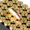 Close up of the 124gr on the 50 Rounds of 124gr JHP 9mm Ammo by Fiocchi