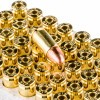 Close up of the 115gr on the 500  Rounds of 115gr FMJ 9mm Ammo by Winchester