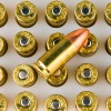 Close up of the 115gr on the 1000 Rounds of 115gr TMJ 9mm Ammo by Speer