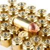 View of Blazer Brass .40 S&W ammo rounds