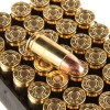 View of Remington 9mm ammo rounds