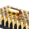 Close up of the 124gr on the 1000 Rounds of 124gr FMJ 9mm NATO Ammo by Magtech