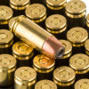 View of Aguila 9mm ammo rounds