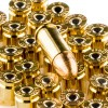 Close up of the 115gr on the 50 Rounds of 115gr FMJ 9mm Ammo by Federal American Eagle